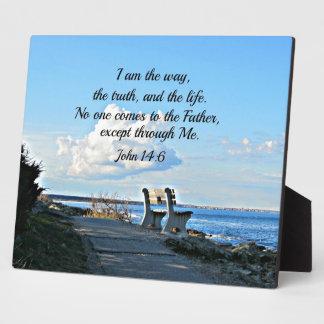 John 14:6  I am the way... Plaque