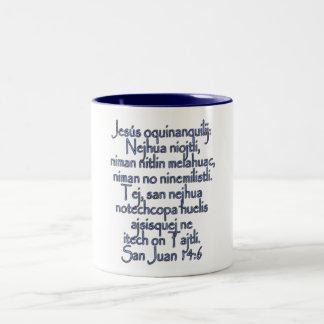 John 14:6 Nahuatl Guerrero Two-Tone Coffee Mug