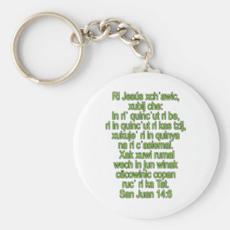 John 14:6 Quiche, Centro Occidental Keychain