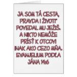 John 14:6 Slovak Greeting Card