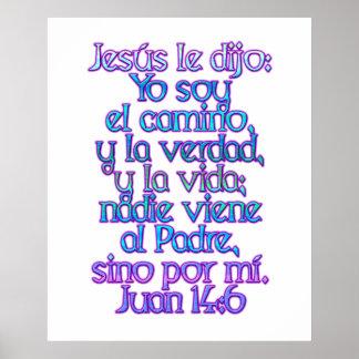 John 14:6 Spanish Poster