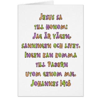 John 14:6 Swedish Card
