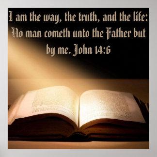 John 14:6 wall 24+24 wall Poster