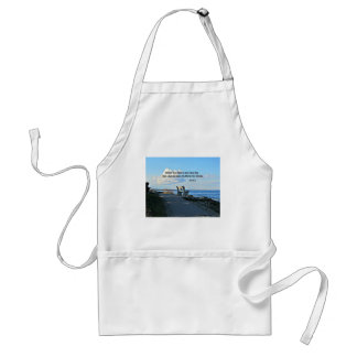 John 15:13 Greater love hath no man than this... Adult Apron