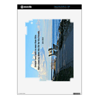 John 15:13 Greater love hath no man than this... Decal For The iPad 2