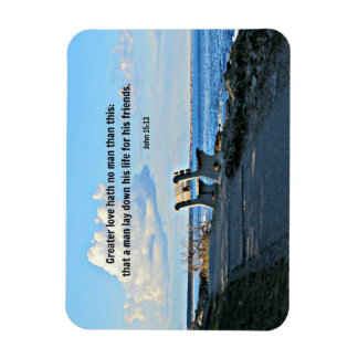 John 15:13 Greater love hath no man than this... Magnet