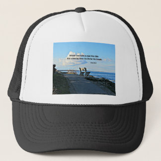 John 15:13 Greater love hath no man than this... Trucker Hat