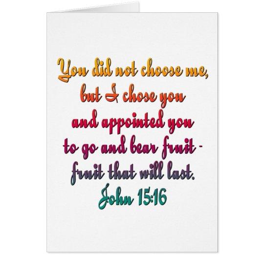 John 15:16 card