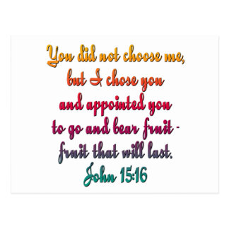 John 15:16 postcard