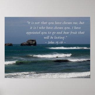 John 15:16 Poster