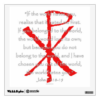 John 15:18-19 wall sticker