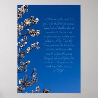 John 15:4-5 Abide print