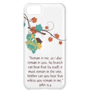 John 15:4 iPhone Case iPhone 5C Case