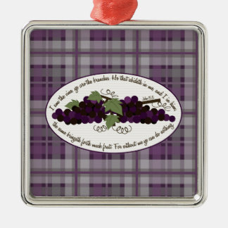 John 15:5 Bible Verse Grapes Ornament