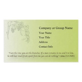 John 15:5 business card templates