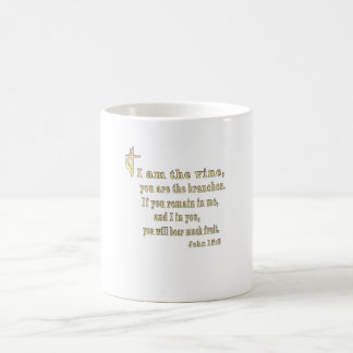 John 15:5 christian gifts coffee mug