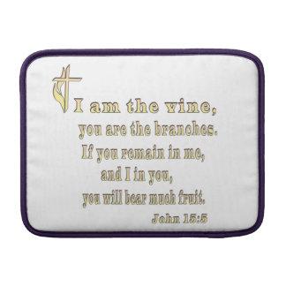 John 15:5 christian gifts sleeve for MacBook air