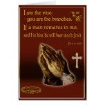 John 15:5 I am the vine card Cards