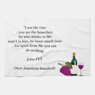 John 15:5 Verse Kitchen Towel