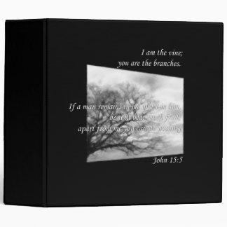 John 15:5 ~ Vine and Branches Vinyl Binder