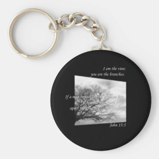 John 15:5 ~ Vine and Branches Keychain