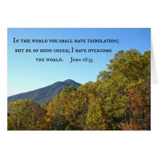 John 16:33 In the world ye shall have tribulation. Card