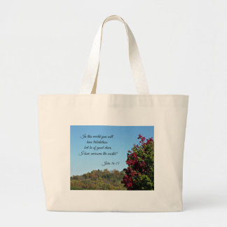 John 16:33 In the world you will have... Canvas Bag