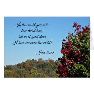 John 16:33 In the world you will have... Card