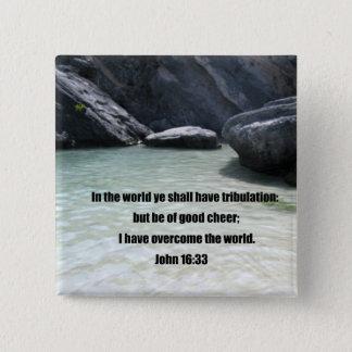 John 16:33 pinback button