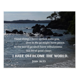 John 16:33 These things I have spoken unto you Poster