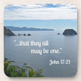 """John 17:21 """"That they al may be one."""" Beverage Coasters"""