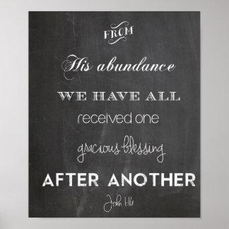 John 1:16 Blessing Poster Wedding Thanksgiving