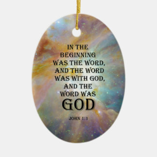 John 1:1 ceramic ornament