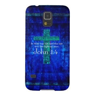 John 1:4 Inspirational Bible Verse Case For Galaxy S5