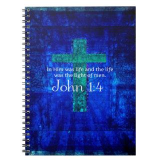 John 1:4 Inspirational Bible Verse Notebooks