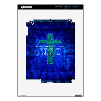 John 1:4 Inspirational Bible Verse iPad 3 Decal