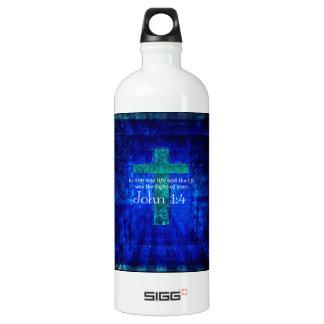 John 1:4 Inspirational Bible Verse Water Bottle