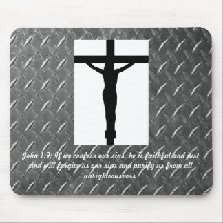 John 1:9 Christ on the Cross Mouse Pad
