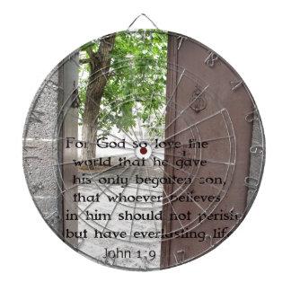 John 1:9 Inspirational and Uplifting Bible Verse Dart Board