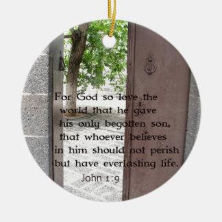 John 1 9 Inspirational and Uplifting Bible Verse Ornaments