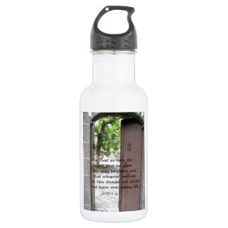 John 1:9 Inspirational and Uplifting Bible Verse Stainless Steel Water Bottle
