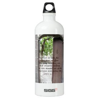 John 1:9 Inspirational and Uplifting Bible Verse Water Bottle