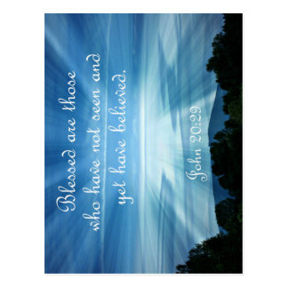 John 20:29  Blessed are those who have not seen Postcard