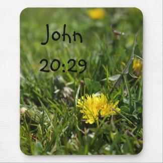 John 20:29 Dandelion Mousepad