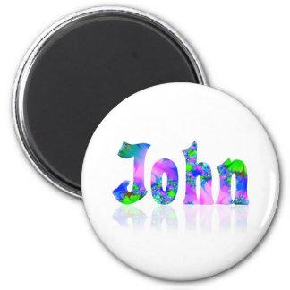 John 2 Inch Round Magnet