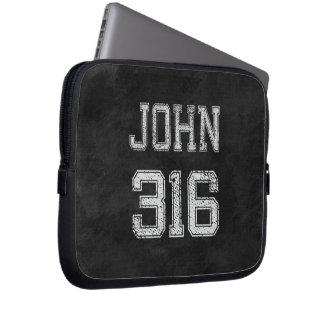 John 316 Christian Football Sports Fan Laptop Sleeve