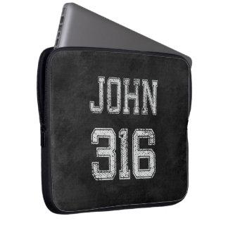 John 316 Christian Football Sports Fan Laptop Computer Sleeve
