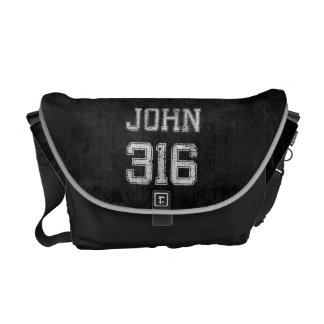 John 316 Christian Football Sports Fan Courier Bags