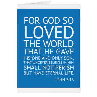 John 316 - inspirational quote card
