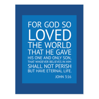 John 316 - inspirational quote postcard